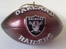 "Oakland Raiders 2 1/4"" Metal Football Ornament NFL Carr Murray Cooper Crabtree"