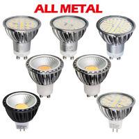 4x 10x 5W 6W 7W GU10 MR16 SMD COB Dimmable LED Bulbs Metal Shell Lights Lamp CPR