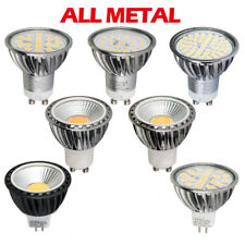 4 10x 5W 6W 7W GU10 MR16 SMD COB Dimmable LED Bulbs Metal Shell Lights Lamp UK