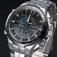 LIANDU Chronograph Watch Men's Swimming 30M quartz Analog Digital Date Alarm