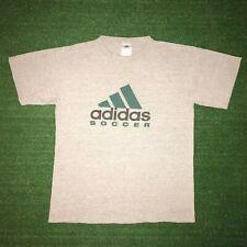 Vintage ADIDIAS SOCCER Classic Logo Gray Graphic Tshirt Size - M RARE!!