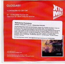 (EB868) Glossary, A Shoulder To Cry On - 2013 DJ CD
