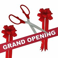 """36"""" Red/Silver Ceremonial Ribbon Cutting Scissors Grand Opening Kit"""