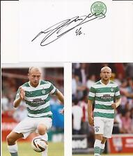 CELTIC ** DYLAN McGEOUCH SIGNED 6X4 CRESTED WHTE CARD+2 FREE UNSIGNED PHOTOS+COA