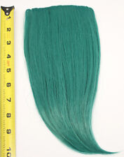 10'' Long Clip on Bangs Viridian Green Blue Cosplay Wig Hair Extension NEW