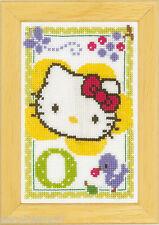 Vervaco  0149546  Alphabet © Hello Kitty - Lettre O  Kit  Point de Croix  Compté