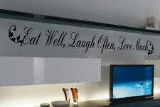 Eat, Laugh, Love Kitchen Vinyl Wall Quote Decal Stickers