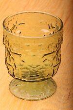 Anchor Hocking Avocado Green Lido Milano Goblet Glass