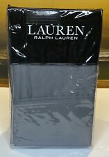 Ralph Lauren Dunham Sateen Standard Pillowcases (2) 300 TC Cotton Charcoal Gray