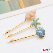 4pcs/set Jewelry Retro Sea Shells Starfish Hairpin Side Clip Hair Accessories