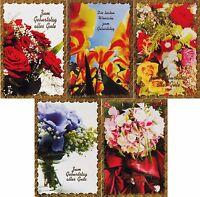 100 Glückwunschkarten zum Geburtstag Goldrand 50-5401 Geburtstagskarte Grußkarte