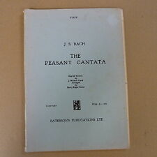 vocal score BACH The Peasant Cantata, Diack / Baker, Paterson's