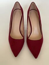 Zara Trafaluc Hot Pink Suede High Heel Shoes Pump Size 36