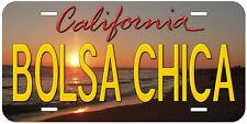 Bolsa Chica California Aluminum Novelty Auto License Plate