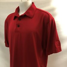 Hacienda Country Club Mens Golf Polo Shirt Xl Red Long Tail Polyester Spandex