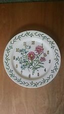 Floral Fresh Dinner Plate Size Clock !