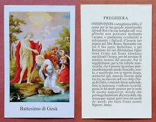 Santino Holy Card: Battesimo di Gesù