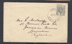 FIJI 1936 2d SINGLE GEORGE V ON COVER LABASA TO BARROW-IN-FURNESS ENGLAND