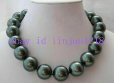 Genuine 10mm South Sea Black Shell Pearl Necklace 18'' AAA