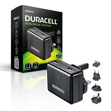 Duracell Mains to Twin USB High Output 2.4A Travel Charger for all USB Devices