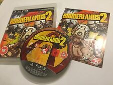 SONY PLAYSTATION 3 PS3 GAME BORDERLANDS 2 / II +BOX & INSTRUCTIONS COMPLETE PAL
