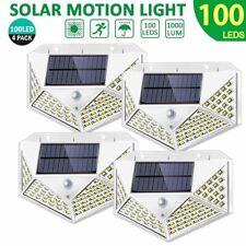 100 LED Solar Powered PIR Motion Sensor Light Outdoor Garden Security Wall Lamp