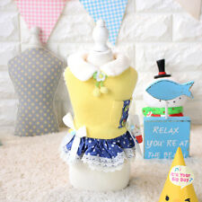 Sweet Pet Cat Dog Dress Warm Small Chihuahua Clothes Puppy Yorkie Coat Skirt New