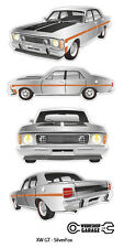 FORD FALCON XW GT HO 351 -  STICKER PACK Silver Fox 4 MEDIUM STICKERS