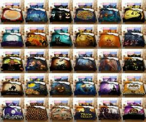 Trick or Treat Bedding Set Halloween Quilt Duvet Cover Single Double King Size