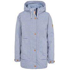 Trespass Womens Waterproof Jacket Longline Stripe Raincoat with Hood Offshore