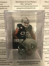 Richard Seymour Oakland Raiders Mini Helmet Card Display Case Collectible Auto
