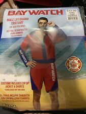 Baywatch Movie Adult Male Lifeguard Jacket And Shorts Halloween Costume Official