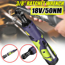 18V 3/8'' 50NM Cordless Electric Ratchet Wrench Rattle Nut Gun Battery + Charger