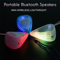 Portable Mini Water Drop LED Wireless bluetooth Speaker Stereo For Tablet  U