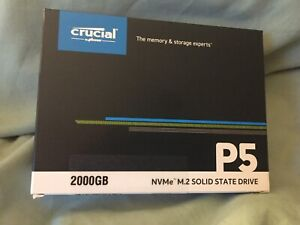 CRUCIAL 2TB 2000GB P5 NVM.e M.2 SOLID-STATE DRIVE SSD NEW BOXED