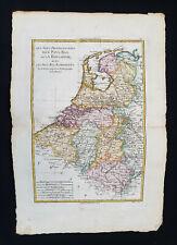 1787 BONNE & DESMAREST - Original map: HOLLAND, NETHERLANDS, BELGIUM, LUXEMBOURG