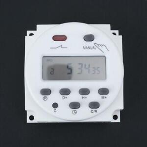 Digitale LCD Zeitschaltuhr AC/DC 12V Programmierbar Timer schalter Relais