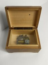"Vintage Cuendet Swiss Music Box Plays ""Nach Regen Scheint."" for Repair/Parts"