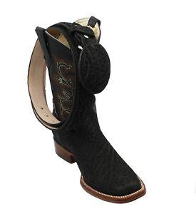 Men's Genuine Bull (Toro) Leather Cowboy Western Rodeo Toe Boots -Free Belt #722