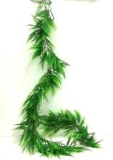 Lace Fern Garland~5 1/2 ft long~Green~PVC Artificial