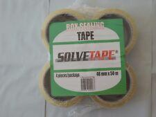 """Box Sealing Tape, 4 rolls, 48mm x 50m (1.8"""" x 164')"""