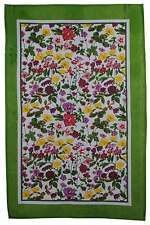 Abundance Flowers Floral Roses Irish Linen Tea Towel *New*