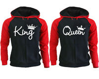 King And Queen Couple Hoodies His And Hers Sweatshirts Matching Couple Hoodies