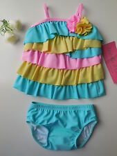 Isobella & Chloe Baby Girl 2 Pce Bathers Swimsuit Size 000 Fits 3m NEW *Gift*