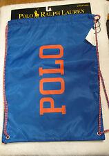 Polo Ralph Lauren Small Cinch Bag NWT Royal/Orange