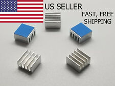 5PCS 8.8x8.8x5mm Adhesive Aluminum Heatsink LED Memory Raspberry Pi IC US Seller