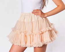 NEW AMERICAN APPAREL Ballet Pink Ruffle Reversible Petticoat Skirt Tutu OS Boho