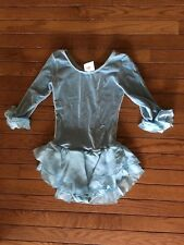 Mondor Power Blue Ice Skating outfit ruffles on sleeves Xl Girls 12-14