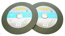 """9 """" / 230 mm Inox Corte De Metal Discos Plana Centro conjunto de 2 nuevos Tz ab145"""
