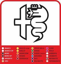 ADESIVO BISCIONE VERDE ALFA ROMEO LATO DESTRO CON APPLICATION 11,5 X 6,5 CM